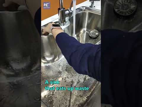 A sink that eats up waste