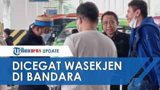 Kepergok Datangi KLB, Marzuki Alie Dicegat Wasekjen Demokrat di Bandara Kualanamu