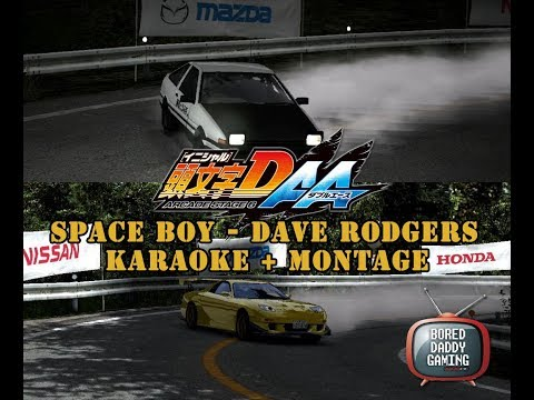 Space Boy Karaoke Lyrics + Initial D 6AA hill climb and downhill Mt. Akina montage