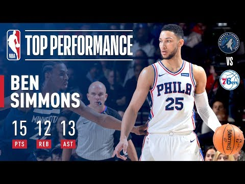 Ben Simmons Notches 10th Rookie Season Triple Double!