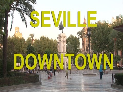 Seville, Spain, walk in the center