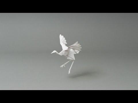 super origami crane stop motion