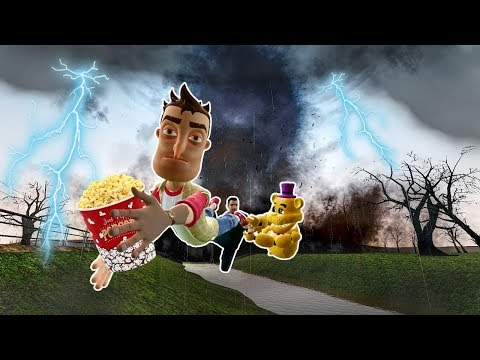 Surviving an F5 TORNADO with a LEGO FORTRESS! - Garry's Mod Gameplay - Gmod Roleplay