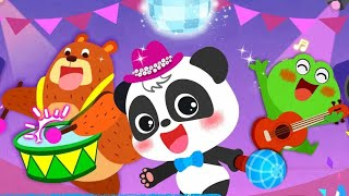 Baby Panda's Music Party - Play Classic Music With Cute Animals - Fun Baby Game