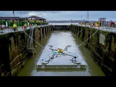 Jones Bros prepares concrete base for underwater renewable energy project
