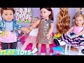 Baby Dolls Hair Cut and Styling Toys! American Girl Doll Beauty Salon! 🎀