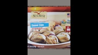 Seabest Family Favorites  Frozen Steamed Clams Review - YUM -- Beer Mukbang
