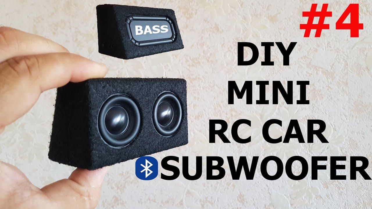 DIY Mini RC CAR Bluetooth Subwoofer v.4 With Bass Radiator |RC CAR SUB|