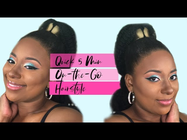 Quick 5 Minute Back to School On the Go Genie Ponytail on 4c Natural Hair || Vicariously Me
