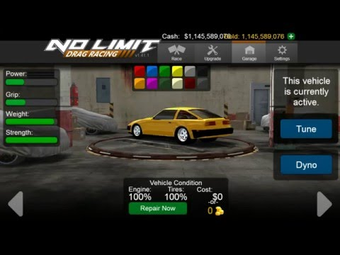 No Limit Drag Racing (Unlimited Cash/Gold)