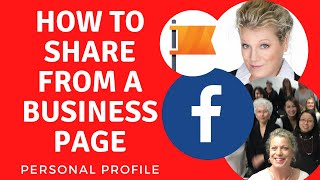 How to Share a Post from Your Facebook Business Page to Your Personal Profile