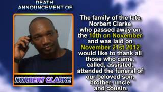 Norbert Clarke thank you