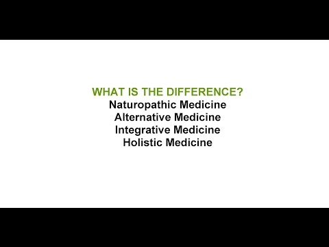Naturopathic Medicine vs. Alternative Medicine vs. Integrative Medicine vs. Holistic Medicine