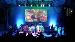 "Antibalas w Zap Mama ""Band Introductions~Upside Down"" Kravis Center - Gosman Amphitheater, 1-23-2015"