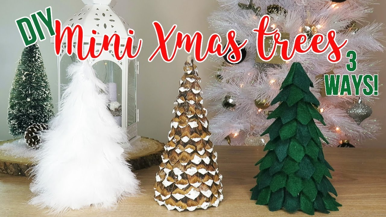 Diy Christmas Tree Decor How To Make 3 Mini Tabletop Trees Affordable