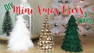 DIY Christmas Tree Decor | How to Make 3 Mini Tabletop Trees (Affordable!)