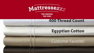 Mattressezzz Giveaway: 400 Thread Count Egyptian Cotton Sheet Set