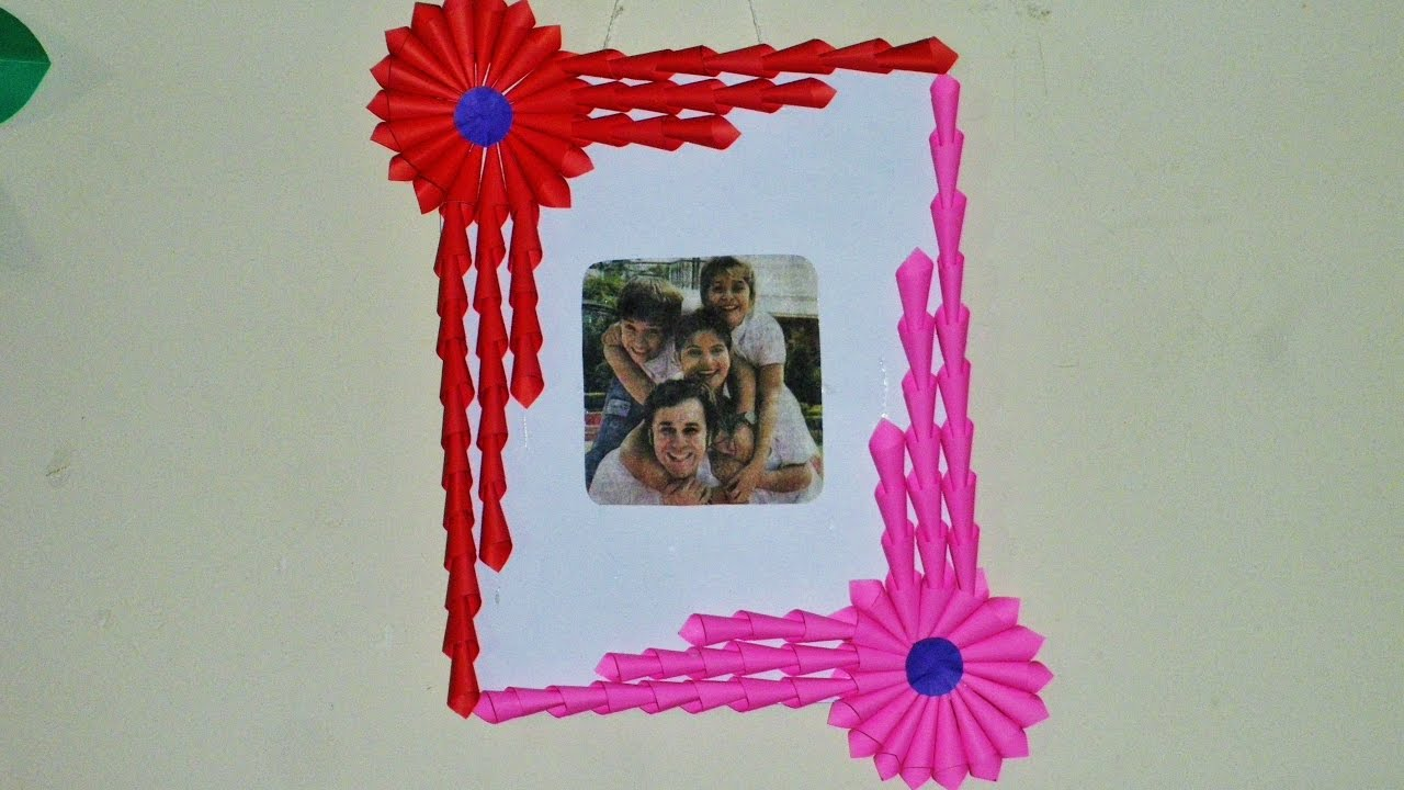 Diy Easy Photo Frame Gift Idea Made With Only Paper Art