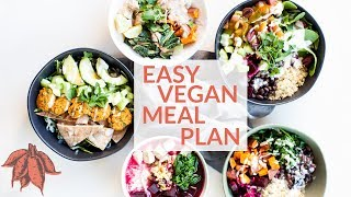 MEAL PREP LIKE A BOSS! | quick & easy vegan bowls + shopping list download