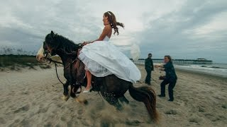 bride thrown from horse during photoshoot