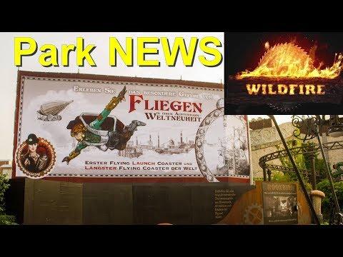 F.L.Y. - Launch Flying Coaster Phantasialand & Wildfire in Kolmården wieder geöffnet - Park NEWS