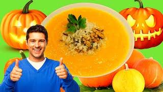 Суп пюре с тыквой или тыквенное гаспачо с копченостями. Готовим вкусно.
