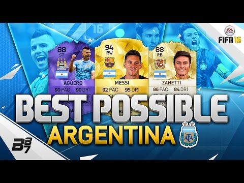 FIFA 16   THE BEST POSSIBLE ARGENTINA SQUAD! w/ MESSI AND HERO AGUERO!