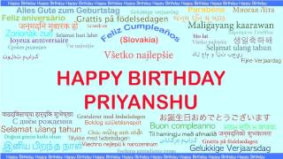 Priyanshu   Languages Idiomas - Happy Birthday
