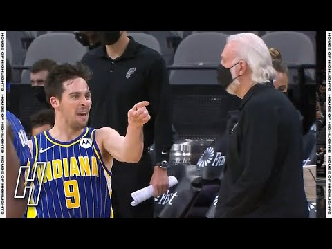 T.J. McConnell With the CLUTCH DAGGER to Seal the Game - Pacers vs Spurs   April 3, 2021