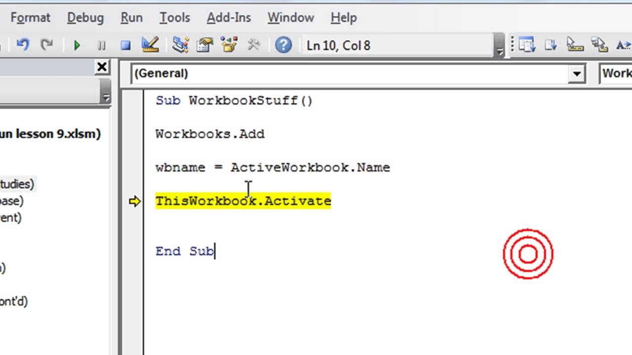 Worksheets Activate Worksheet Vba excel vba basics 13 switching between workbooks dynamically create new workbooks