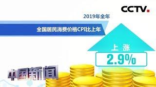 [中国新闻] 2019全年全国居民消费价格同比涨2.9% | CCTV中文国际
