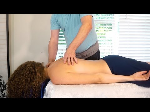 Relaxing Massage Therapy Tutorial for Back Pain, Neck & Shou