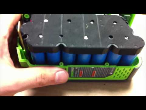 Watts Inside? - Greenworks 40v4ah Lithium battery pack opening #29282