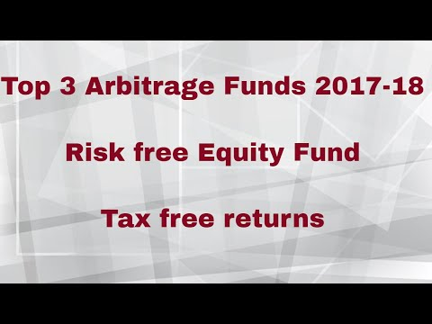 Top 3 Arbitrage Funds 2017-18 | Risk free Equity Fund |  Tax free returns