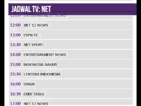 Jadwal NET Hari Ini, 13 Juli 2014