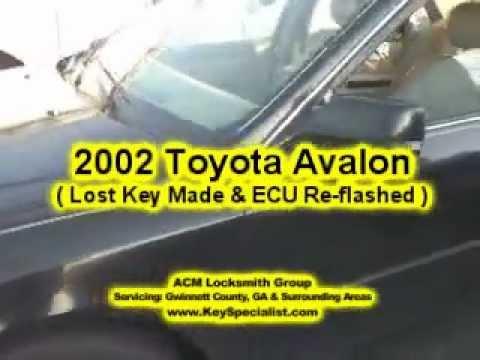 Atlanta GA: 2002 Toyota Avalon - Lost keys Made & ECU Reprogrammed!