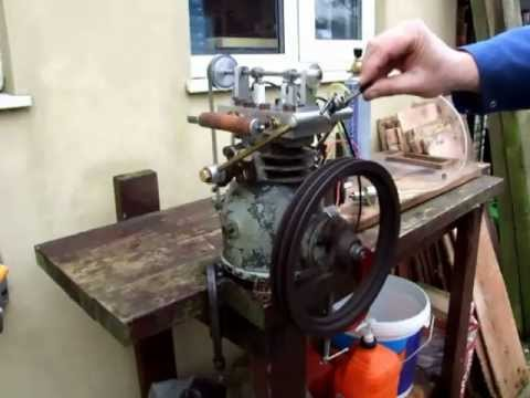 Gas Engine Made From An Old Refrigeration Compressor Youtube