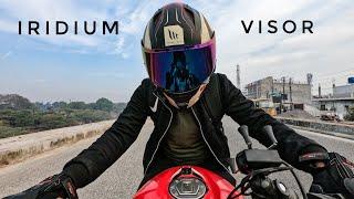 IRIDIUM Visor for my Helmet   Colour changing visor