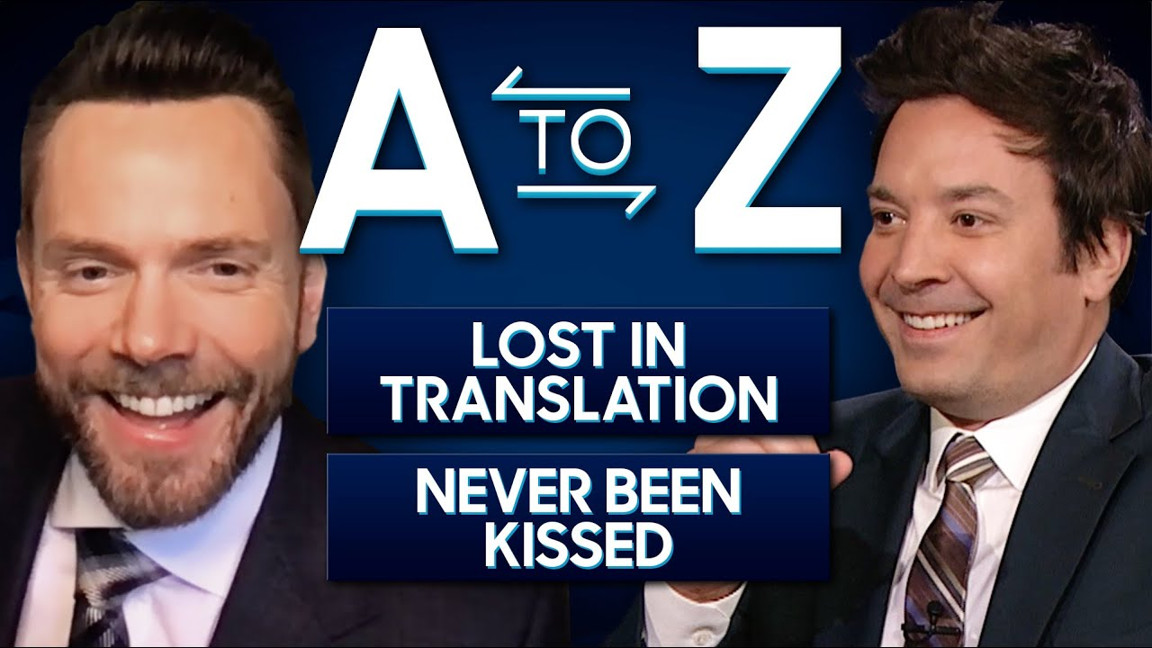 A-to-Z with Joel McHale | The Tonight Show Starring Jimmy Fallon