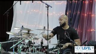 (RAW) Next Level Music Centre Drum Clinic w/ Adrian Bent - Rejoice By Larnell Lewis