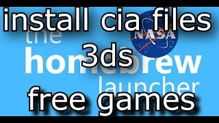 how to install legit cia files on all 3ds! (including 10.4, 10.5 and 10.6) using NASA 1.4