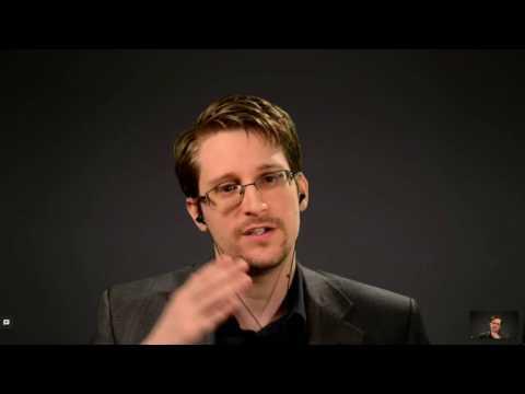 Snowden live at the Internet Days in a conversation arranged by Amnesty International - IND16
