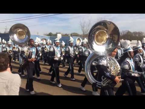 """Jackson State """"Sonic Boom"""" Marching through at the 2017 MLK Parade in Jackson, Mississippi"""