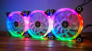 Best Budget RGB Fans For A Gaming PC! -- CloverTale RGB Fans Review