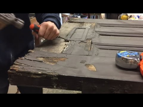 100 Year Old Door Repair - Full Video