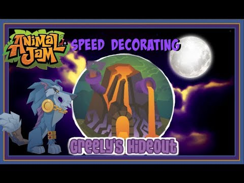 Download Animal Jam: Speed Decorating Greely's Hideout!