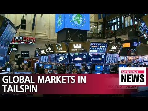 Global stocks tumble followed by concerns over U.S. government shutdown, global economic slowdown