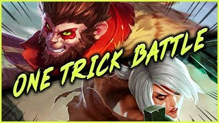 Download BATTLE OF THE ONE TRICKS | #1 WUKONG WORLD VS. ADRIAN RIVEN TOP LANE - League of Legends Mp3 and Videos
