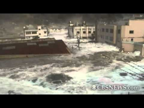 Caught on Tape: Tsunami hits Japan port town