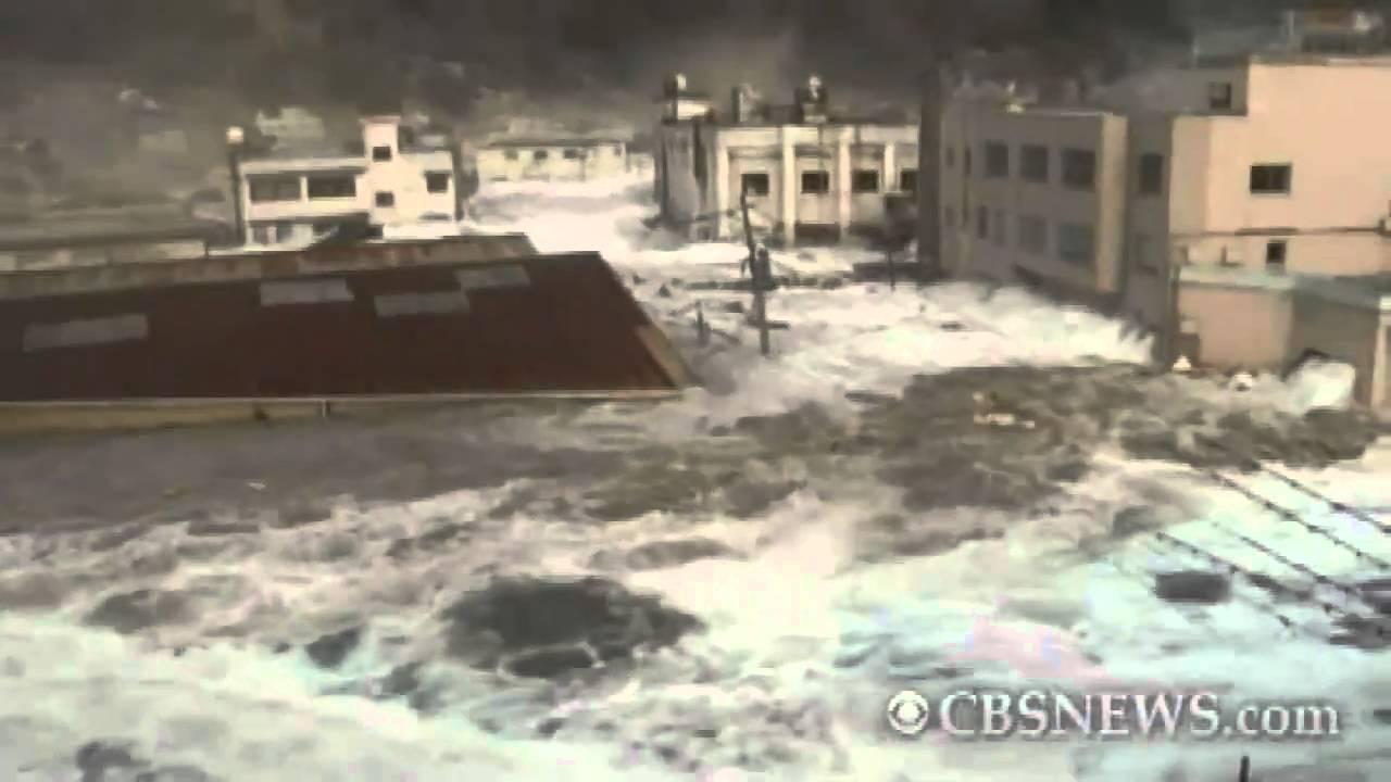 Caught On Tape Tsunami Hits Japan Port Town Youtube